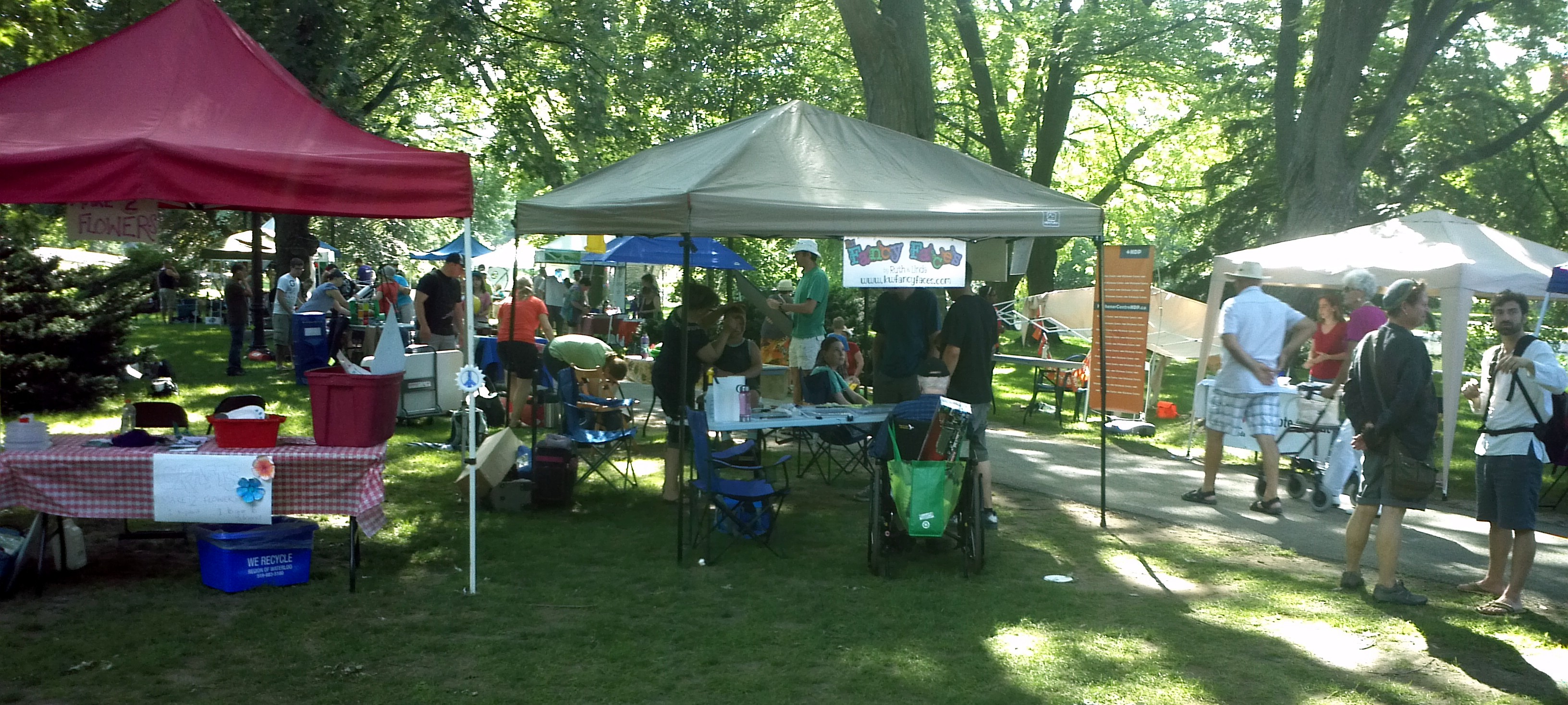 Booths at the Nonviolence Festival