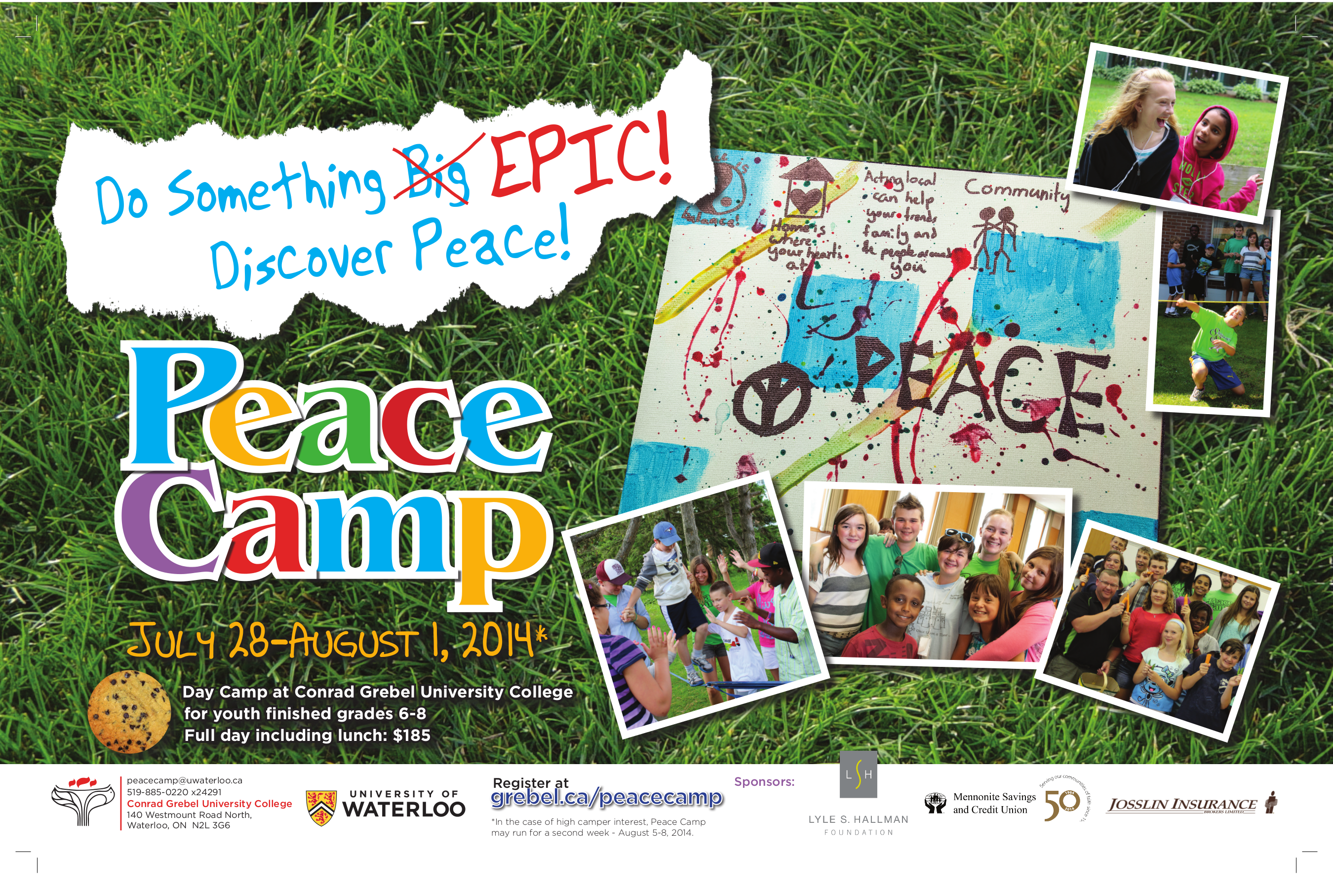 Peace Camp, July 28 to August 1, 2014