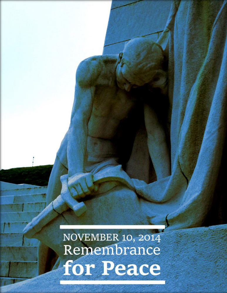 November 10, 2014 - Remembrance for Peace