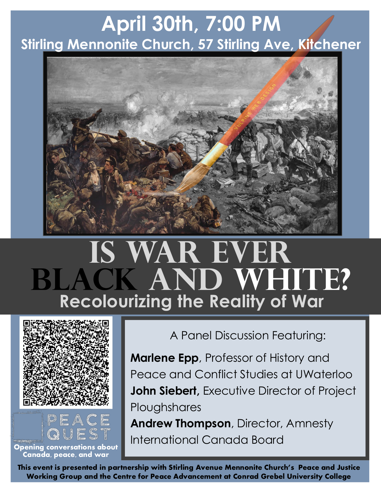 Is War Ever Black and White? Recolourizing the Reality of War