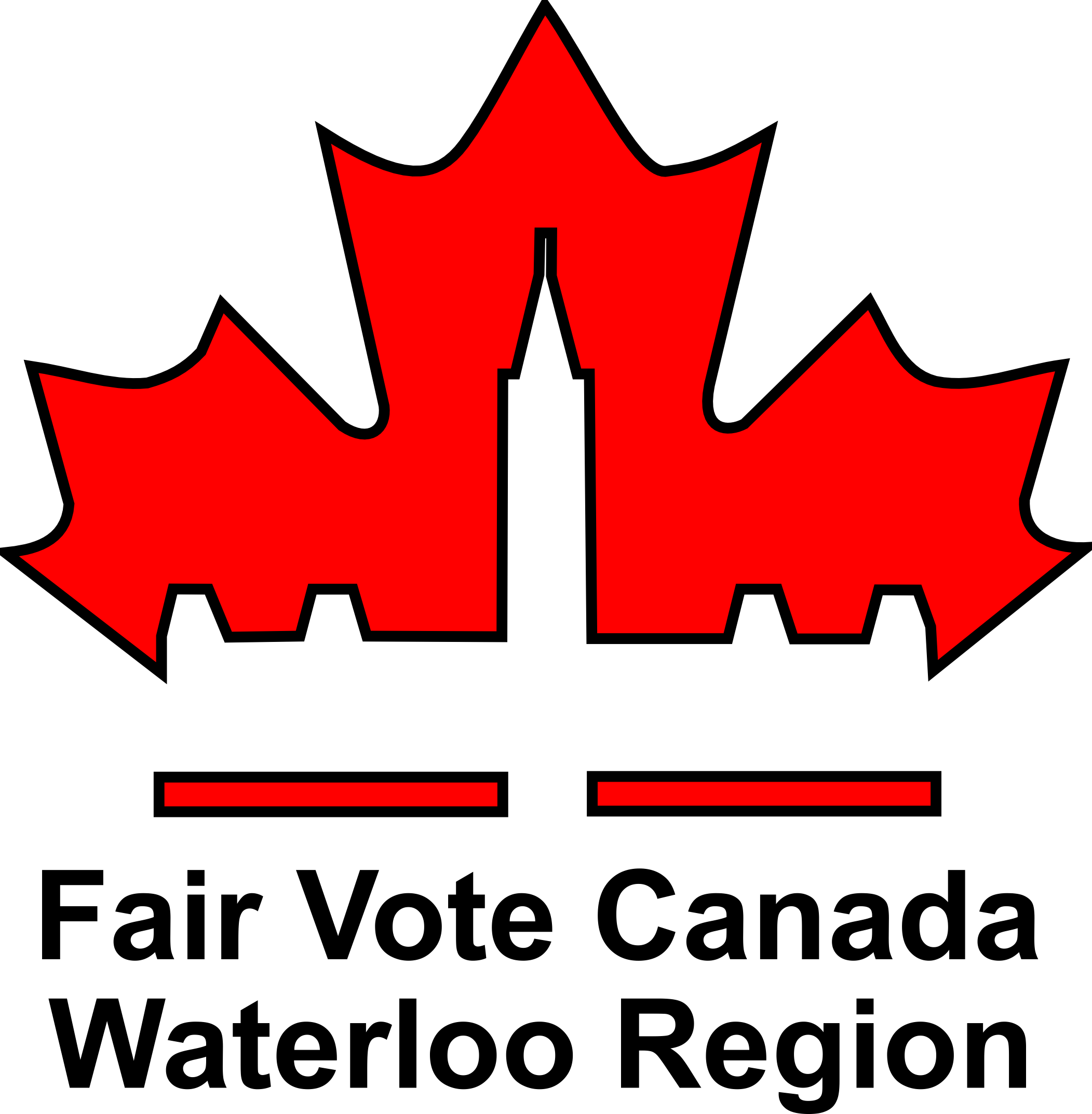 Logo: Fair Vote Canada Waterloo Region