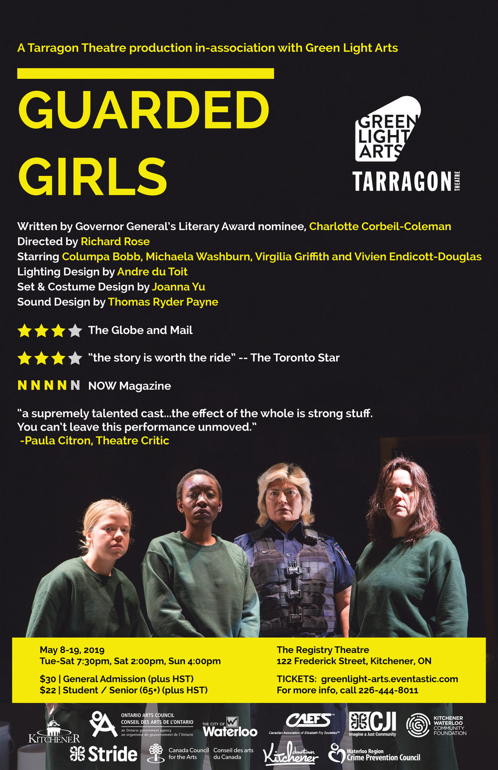 Guarded Girls -- A play from Green Light Arts @ The Registry Theatre