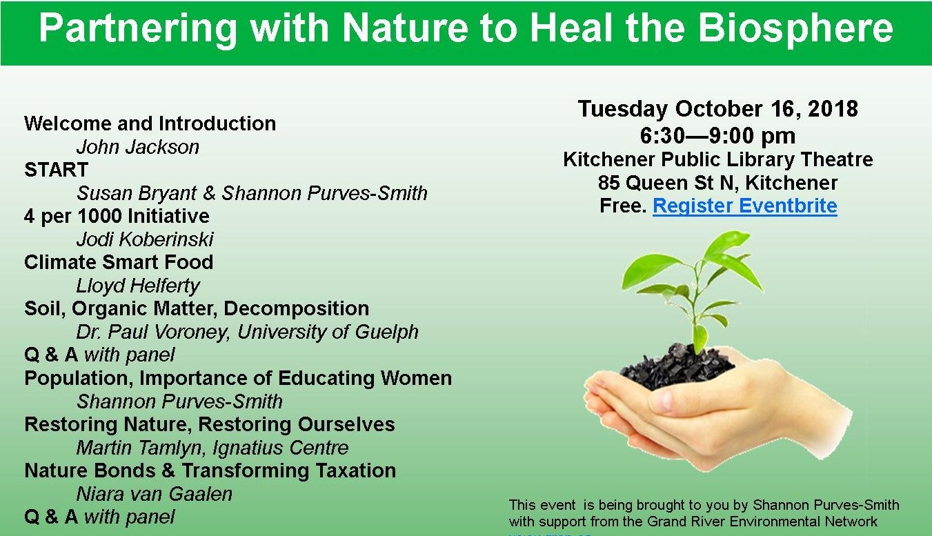 Partnering with Nature to Heal the Biosphere @ Kitchener Public Library Theatre | Kitchener | Ontario | Canada