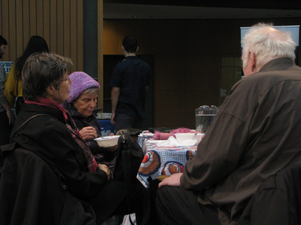 People eating lunch
