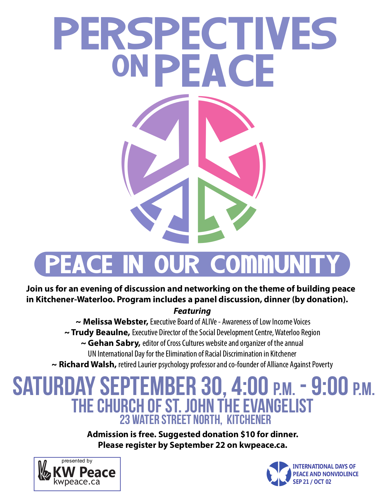 how to make peace in our community